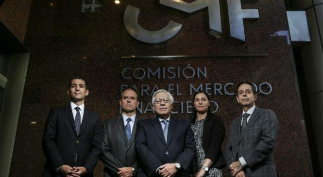 REPRESENTANTES DEL COLEGIO DE CORREDORES SE REUNIERON CON LA COMISIÓN PARA EL MERCADO  FINANCIERO EL 18 DE ABRIL 2018