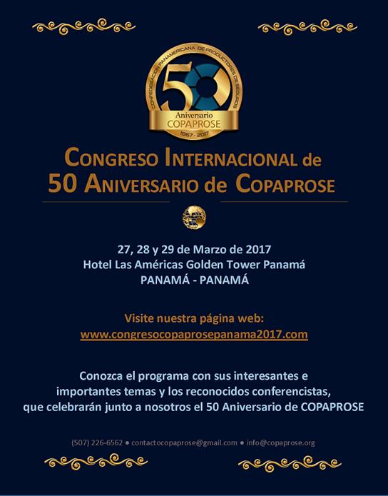 Congreso Internacional de 50 Aniversario de COPAPROSE