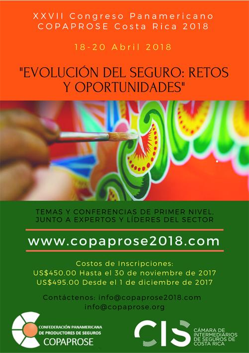 XXVII Congreso Panamericano de Productores de Seguros, COPAPROSE 2018
